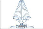 HF Broadband Vertical Conical Monopole Antennas High Gain Conical Monopole HF Antennas 4-30MHz Conical Antennas