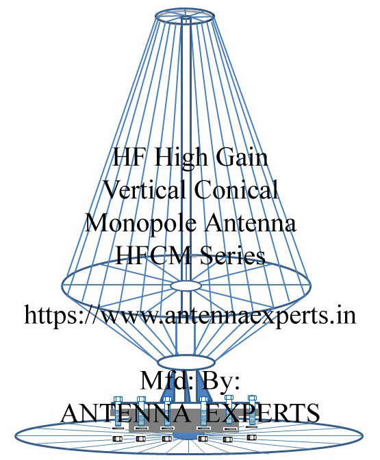 HF Broadband Conical Monopole Antenna