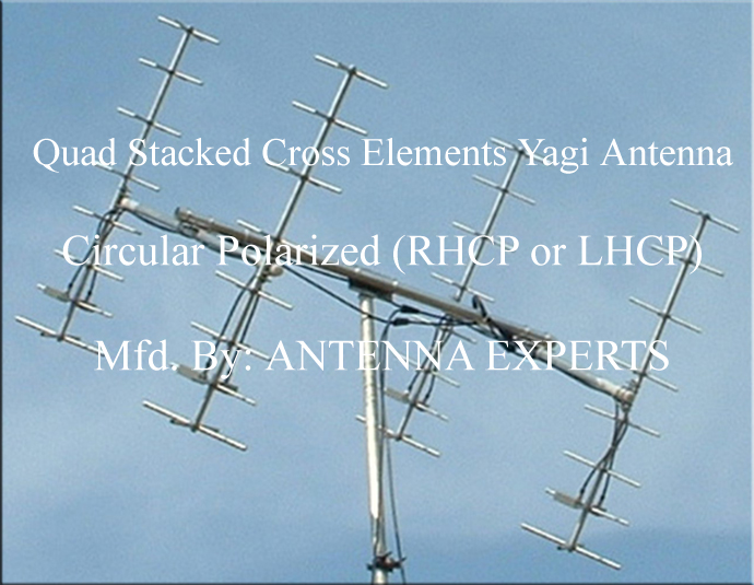 Quad Stacked Circular Polarized Yagi Antenna