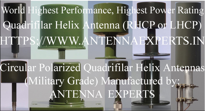 High Power High Gain Quadrifilar Helix Antenna